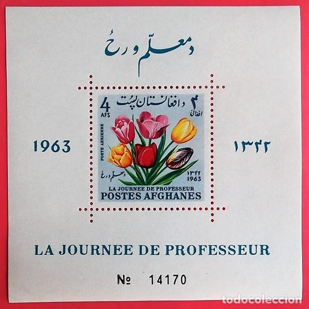 AFGANISTÁN. HB 41A DÍA DEL PROFESOR: TULIPANES. FLORES. 1963. SELLOS USADOS Y NUMERACIÓN YVERT (Sellos - Extranjero - Asia - Afganistán)