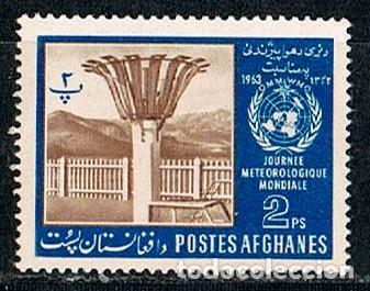 AFGANISTAN 788, DIA MUNDIAL DE LA METEOROLOGIA, INSTRUMENTO DE MEDIDA, NUEVO CON GOMA INTACTA (Sellos - Extranjero - Asia - Afganistán)