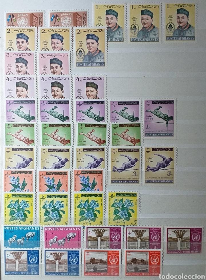 Sellos: Colección de sellos de Afganistán en álbum de 8 páginas - Foto 3 - 201160392