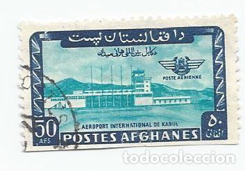 SELLO ANTIGUO DE AFGANISTAN- CORREO AEREO-INAUGURACION DEL PUERTO INTERNACIONAL DE KABUL-AÑO 1964 (Sellos - Extranjero - Asia - Afganistán)