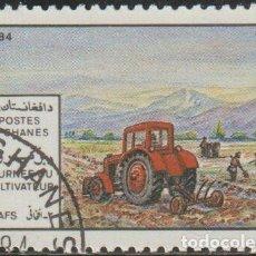 Sellos: AFGANISTAN 1984 MICHEL 1061 SELLO * AGRICULTURA TRACTOR MICHEL 1327 YVERT 1150 PREOBLITERÉ MATASELLO. Lote 214802922