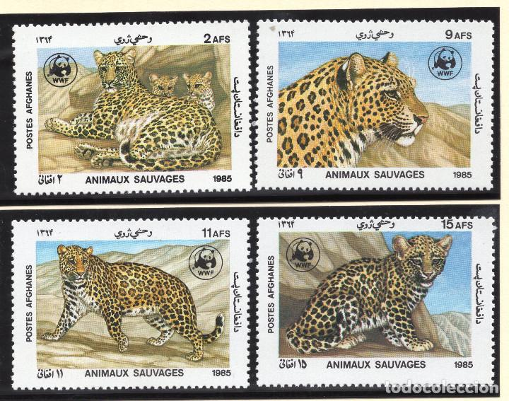 AFGHANISTAN SERIE 1985 MICHEL 1453-1456 (Sellos - Extranjero - Asia - Afganistán)