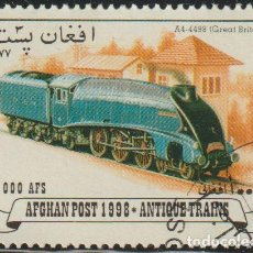 Sellos: AFGANISTAN 1998 MICHEL 1771 SELLO * TRENES LOCOMOTORAS A4-4498 (GREAT BRITAIN) PREOBLITERÉ MATASELLO. Lote 215244742