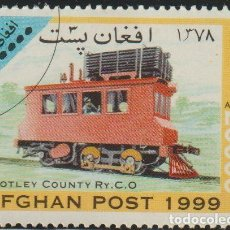 Sellos: AFGANISTAN 1999 MICHEL 1850 SELLO * TRENES LOCOMOTORAS MOTLEY COUNTY RAILWAY 0-4-2 DIESEL LOCOMOTIVE. Lote 215244772