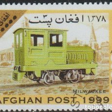 Sellos: AFGANISTAN 1999 MICHEL 1851 SELLO * TRENES LOCOMOTORAS MILWAUKEE RAILWAY 0-4-0 DIESEL LOCOMOTIVE. Lote 215244912