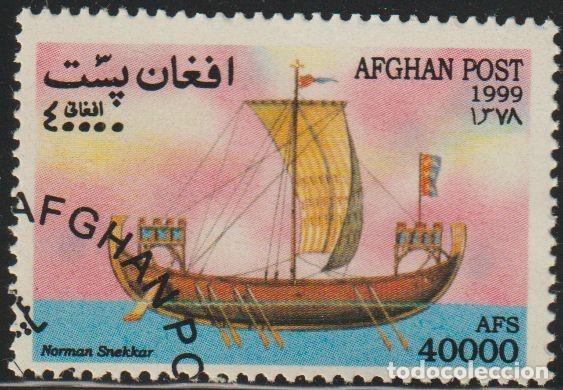 AFGANISTAN 1999 MICHEL 1933 SELLO * BARCOS VELEROS SAILING SHIPS NORMAN SNEKKAR PREOBLITERÉ (Sellos - Extranjero - Asia - Afganistán)