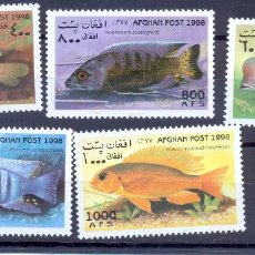 Sellos: AFGANISTAN 1998 PECES. Lote 227622595