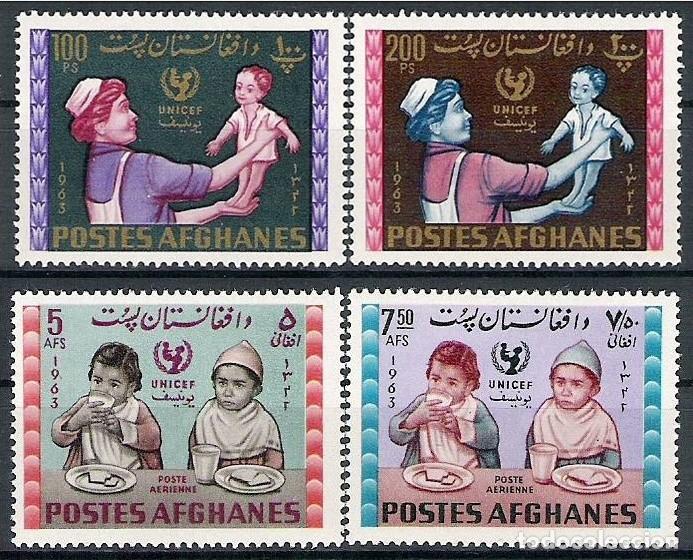 AFGANISTAN 1964 - UNICEF- YVERT Nº 746PP/746QQ** + 52U/52V** (Sellos - Extranjero - Asia - Afganistán)