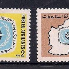 Sellos: AFGANISTAN 1967 - AÑO DEL TURISMO - YVERT Nº 834/35**. Lote 228181630