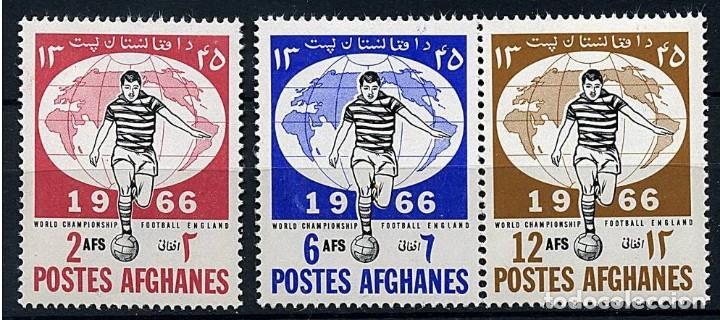 AFGANISTAN 1966 - COPA DEL MUNDO DE FUTBOL INGLATERRA 66 - YVERT Nº 807/809** (Sellos - Extranjero - Asia - Afganistán)
