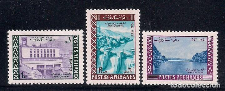 AFGANISTAN 1967 - DISEÑO DE PRESAS PARA AGRICULTURA - YVERT Nº 838/840** (Sellos - Extranjero - Asia - Afganistán)