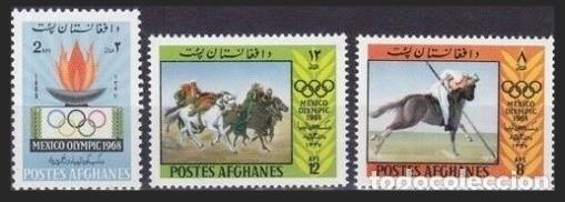 AFGANISTAN 1968 - JUEGOS OLIMPICOS DE MEXICO - YVERT Nº 871/873** (Sellos - Extranjero - Asia - Afganistán)