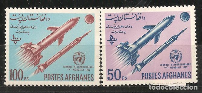 AFGANISTÁN, 1962, 693/94, AÑO METEOROLÓGICO, NUEVO SIN SEÑAL DE FIJASELLOS (Sellos - Extranjero - Asia - Afganistán)