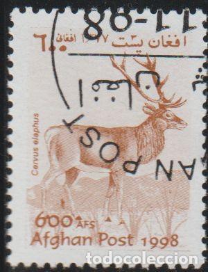 AFGANISTAN 1998 MICHEL 1826 SELLO * FAUNA WILDLIFE VENADO RED DEER (CERVUS ELAPHUS) POSTES AFGHANES (Sellos - Extranjero - Asia - Afganistán)