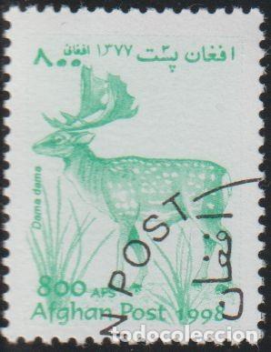 AFGANISTAN 1998 MICHEL 1827 SELLO * FAUNA WILDLIFE VENADO FALLOW DEER (DAMA DAMA) POSTES AFGHANES (Sellos - Extranjero - Asia - Afganistán)