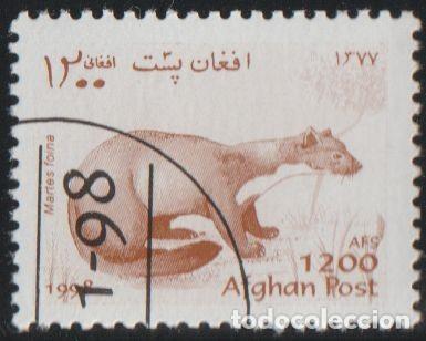 AFGANISTAN 1998 MICHEL 1831 SELLO * FAUNA WILDLIFE MARTAS STONE MARTEN (MARTES FOINA) POSTES AFGHANE (Sellos - Extranjero - Asia - Afganistán)