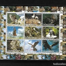Sellos: AFGANISTÁN 2000, HOJA BLOQUE AVES RAPACES.. MNH.. Lote 288157668