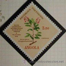 Sellos: ANGOLA 1958 FLORES MEDICINALES MEDICINA TROPICAL Y PALUDISMO 1 SELLO. Lote 8831148