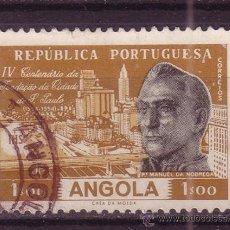 Sellos: ANGOLA 380 - AÑO 1954 - CENTENARIO DE LA CIUDAD DE SAO PAULO. Lote 242916425