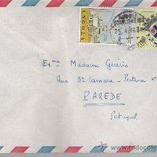 Sellos: SOBRE DE ANGOLA A PAREDE (PORTUGAL) DE 25 - 4 - 66.. Lote 23391138