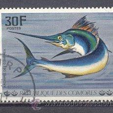 Sellos: COMORES- 1977- YVERT TELLIER 191 - PECES . Lote 24526562