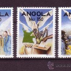 Sellos: ANGOLA 875/77** - AÑO 1992 - PRIMERAS ELECCIONES LIBRES EN ANGOLA. Lote 242916820