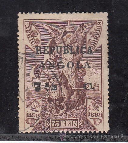 ANGOLA 123 USADA, VASCO DE GAMA, SOBRECARGADO, (Sellos - Extranjero - África - Angola)