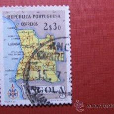Sellos: 1955 ANGOLA, MAPA DE ANGOLA, YVERT 385. Lote 29473153