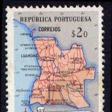 Sellos: SELLO DE ANGOLA - MAPA DE ANGOLA. Lote 30523439