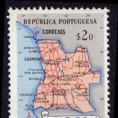 Sellos: SELLO DE ANGOLA - MAPA DE ANGOLA. Lote 34164349