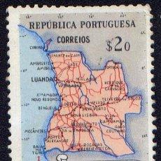 Sellos: SELLO DE ANGOLA - MAPA DE ANGOLA. Lote 34164359