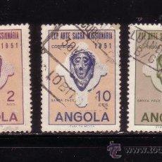 Sellos: ANGOLA 354/56 - AÑO 1953 - EXPOSICION DE ARTE MISIONERO SACRO. Lote 32769953