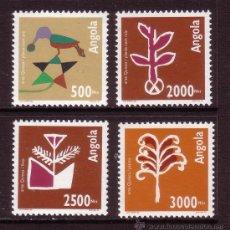 Sellos: ANGOLA 919/22** - AÑO 1994 - ARTESANIA - ARTE QUIOCA. Lote 242916765