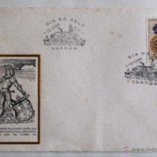 Sellos: SOBRE FILATELICO ANGOLA. DIA DEL SELLO. LUANDA 1969.. Lote 42719232