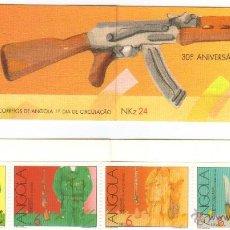 Sellos: ANGOLA 1991 CARNET NUEVO LUJO 30º ANIVERSARIO LUCHA ARMADA KALASHNIKOV MNH *** SC. Lote 53405507
