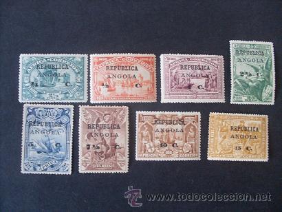 ANGOLA PORTUGAL,1913,4º CENT.CAMINO INDIA,VASCO GAMA(AFRICA),AFINSA 118-125*,SCOTT 192-199*,COMPLETA (Sellos - Extranjero - África - Angola)