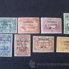 Sellos: ANGOLA PORTUGAL,1913,4º CENT.CAMINO INDIA,VASCO GAMA(AFRICA),AFINSA 118-125*,SCOTT 192-199*,COMPLETA. Lote 204250200