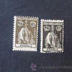 Sellos: ANGOLA PORTUGUESA,1914,CERES,AFINSA 142-143*,SCOTT 118-119*,DENT. 12 X 11 1/2, NUEVOS, FIJASELLOS. Lote 54298715