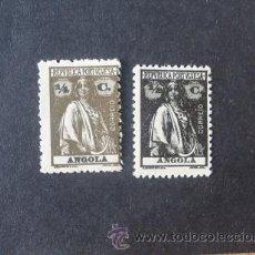 Sellos: ANGOLA PORTUGUESA,1914,CERES,AFINSA 142-143*,SCOTT 118-119*,DENT. 12 X 11 1/2, NUEVOS, FIJASELLOS. Lote 54298723