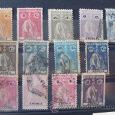 Sellos: ANGOLA,COLONIA PORTUGUESA,1921-1922,CERES,AFINSA 200-211,COMPLETA,USADOS. Lote 54414241
