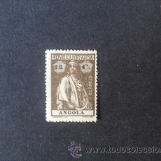 Sellos: ANGOLA,COLONIA PORTUGUESA,1921-1922,CERES,AFINSA 205*,SCOTT 136*,DENT. 15 X 14,NUEVO,FIJASELLO. Lote 54416291