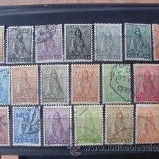 Sellos: ANGOLA,COLONIA PORTUGUESA,1932,CERES NUEVO TIPO,AFINSA 228-246,SCOTT 243-262,COMPLETA,FIJASELLO. Lote 54432500