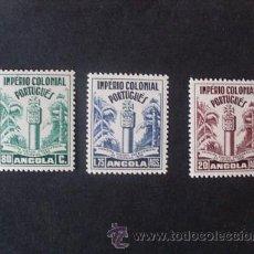 Sellos: ANGOLA PORTUGUESA,1938,1º VIAJE PRESIDENCIAL,AFINSA 276-278*,SCOTT 292-294*,COMPLETA,NUEVOS,FIJASELL. Lote 54445412