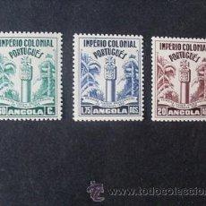 Sellos: ANGOLA PORTUGUESA,1938,1º VIAJE PRESIDENCIAL,AFINSA 276-278*,SCOTT 292-294*,COMPLETA,NUEVOS,FIJASELL. Lote 54445553
