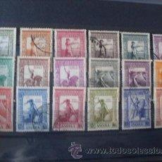 Sellos: ANGOLA,COLONIA PORTUGUESA,1938,IMPERIO COLONIAL,AFINSA 258-275,SCOTT 274-291,COMPLETA,USADOS. Lote 54445838