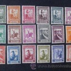Sellos: ANGOLA,COLONIA PORTUGUESA,1938,IMPERIO COLONIAL,AFINSA 258-275*,SCOTT 274-291*,COMPLETA,FIJASELLO. Lote 54516837