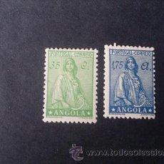 Sellos: ANGOLA,COLONIA PORTUGUESA,CERES,AFINSA 290-291*,SCOTT 249-258A*,NUEVOS,GOMA,SEÑAL FIJASELLOS. Lote 54578060