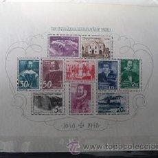 Sellos: ANGOLA,COLONIA PORTUGUESA,1948,3º CENTENARIO RESTAURACIÓN,HOJA BLOQUE Nº 1,NUEVO SIN GOMA. Lote 54654603