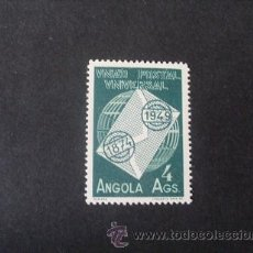 Sellos: ANGOLA PORTUGUESA,1949,75º ANIVERSARIO UPU,AFINSA 320**,SCOTT 327**,NUEVO,GOMA,SIN FIJASELLOS. Lote 54672397