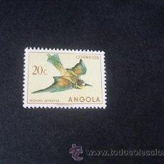 Sellos: ANGOLA,COLONIA PORTUGUESA,1951,AVES DE ANGOLA,AFINSA 329*,SCOTT 336*,NUEVO,GOMA,SEÑAL FIJASELLOS. Lote 54673131